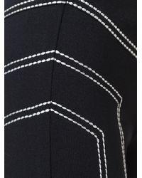 Love Moschino - Black Stitch Detailing Leggings - Lyst