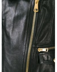 Burberry Brit - Black Quilted Sleeve Biker Jacket - Lyst