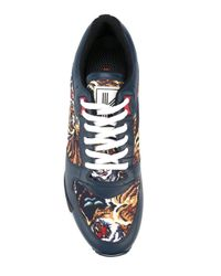 KENZO - Blue 'flying Tiger' Sneakers for Men - Lyst