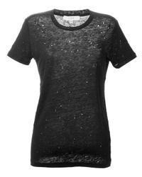 IRO Black Distressed T-shirt