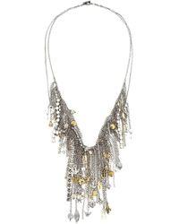 Vera Wang   Metallic Charm Necklace   Lyst