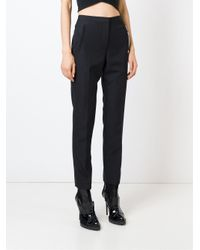 Alexander Wang - Black - Slim Cut Trousers With Wallet Chain - Women - Polyester/wool - 6 - Lyst
