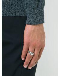 Ann Demeulemeester - Metallic Small Signet Ring for Men - Lyst