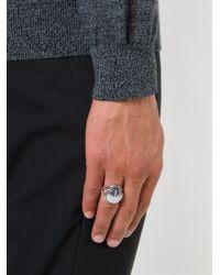 Ann Demeulemeester Metallic Large Signet Ring for men