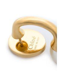 Chloé - White 'darcey' Earrings - Lyst