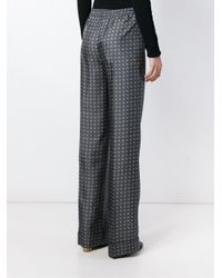 Michael Kors - Gray Printed Trousers - Lyst