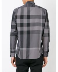 Burberry - Gray 'fred' Shirt for Men - Lyst