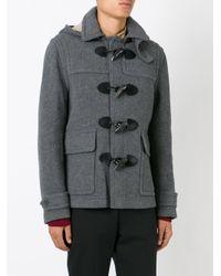 Burberry - Gray 'burwood' Duffle Coat for Men - Lyst