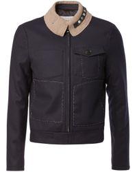 Maison Margiela   Blue Deconstructed Jacket for Men   Lyst