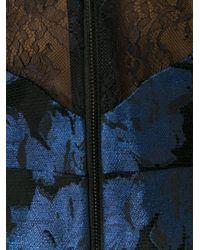 Alice + Olivia - Black Floral Jacquard Print Dress - Lyst