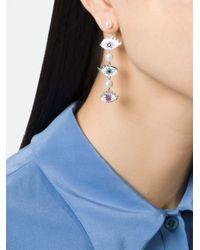 Delfina Delettrez | Metallic 'eyes On Me Piercing' Diamond | Lyst
