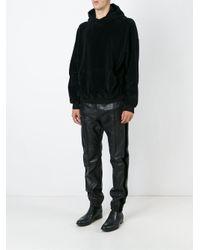 Haider Ackermann - Black Velvet Stripe Appliqué Track Pants for Men - Lyst
