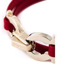 Ferragamo - Red Gancini Bracelet - Lyst