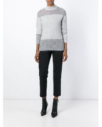 3.1 Phillip Lim - Gray Colour Block Sweater - Lyst