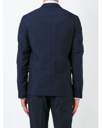 Jil Sander - Blue Double Breasted Blazer for Men - Lyst