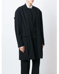 Yohji Yamamoto - Black Oversized Cotton Jacket - Lyst