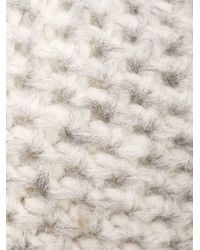 Inverni - Gray Triple Pompom Beanie - Lyst