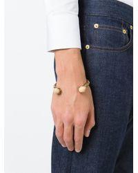 Alexander McQueen - Metallic Claw Twin Skull Bracelet for Men - Lyst