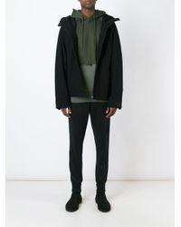 Y-3 - Black Zip Detail Jacket for Men - Lyst