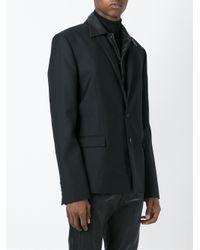 Juun.J - Black Detachable Leather Panel Blazer for Men - Lyst