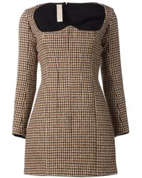 Y. Project - Brown - Tweed Bustier Dress - Women - Acetate/viscose/wool - 38 - Lyst