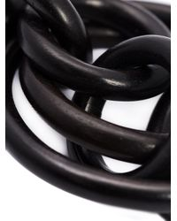 Monies - Black Linked Hoops Clip On Earrings - Lyst