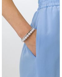 Ca&Lou - Metallic Pavé Ball Bracelet - Lyst