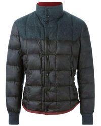 Moncler - Black Camouflage Print Padded Jacket for Men - Lyst