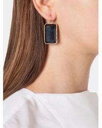 Irene Neuwirth - Black 18kt Rose Gold Onyx Drop Earrings - Lyst