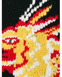Valentino - Black Intarsia Wool Sweater - Lyst