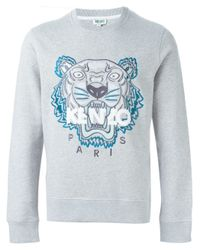 KENZO Gray 'tiger' Sweatshirt for men
