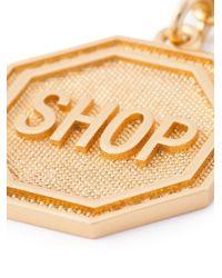 Moschino - Metallic Shop Medallion Necklace - Lyst
