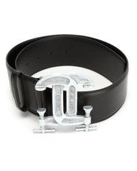 Moschino | Metallic Interlocking C-clamp Belt | Lyst