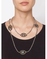 Roni Blanshay | Black Stone Embellished Beaded Necklace | Lyst