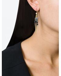 Natasha Collis   Blue 'rod' Sapphire Earrings   Lyst
