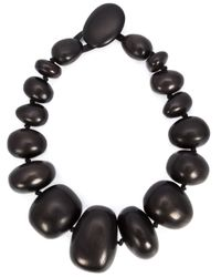 Monies | Black Chunky Bead Necklace | Lyst
