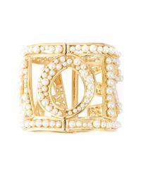 Dolce & Gabbana Metallic Amore Pearl Cuff
