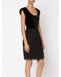 Jean Paul Gaultier - Black Velvet Top Combo Dress - Lyst