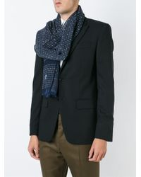 Dolce & Gabbana - Blue Dotted Print Scarf - Lyst