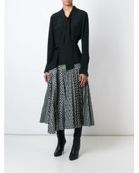 Haider Ackermann | Black Asymmetric Checked Midi Skirt | Lyst