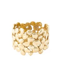 Natasha Collis | Metallic 18kt Yellow Gold Cobbled Ring | Lyst