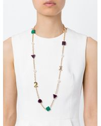 Eshvi | Metallic 'back To School' Numbers Necklace | Lyst