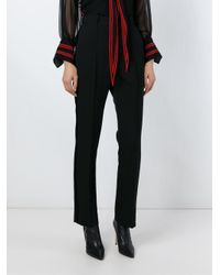 Givenchy - Black Tux Style Trousers - Lyst