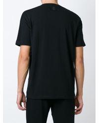 Antpitagora Black Digital Print T-shirt for men