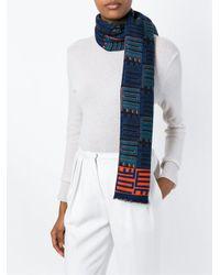 KENZO - Blue 'love' Knit Scarf - Lyst
