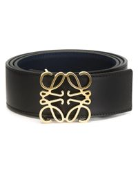 Loewe | Black - Anagram Buckle Belt - Women - Calf Leather - 90 | Lyst