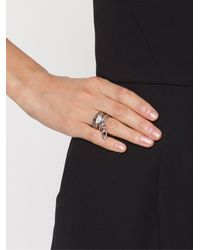 Eddie Borgo | Metallic Drop Crystal Layered Ring | Lyst