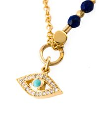 Astley Clarke   Blue 'cosmos' Diamond Locket Pendant Necklace   Lyst