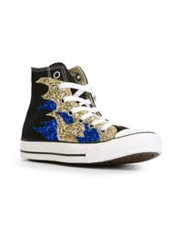 Converse | Black Sequin Flame Sneakers | Lyst