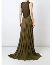 Jay Ahr Green Sleeveless Gown Dress